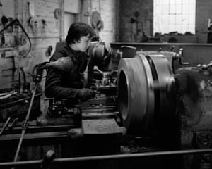 Lathe operator, Higgins and Son, Lye, 1985