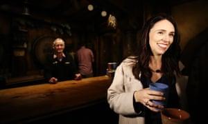 New Zealand Prime Minister Jacinda Ardern tours Hobbiton on October 4,