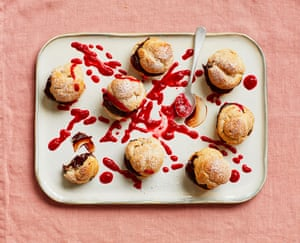 If the choux fits: Liam Charles' chocolate, honey and raspberry bites.