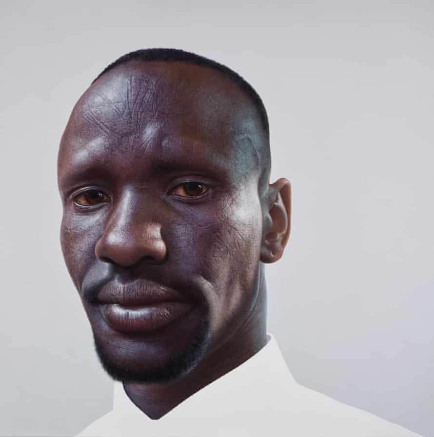 Archibald prize finalist Nick Stathopoulos's portrait of Deng Adut, titled Deng