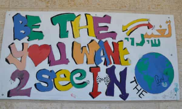 A poster at the school
