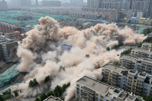 Henan, China Buildings crumble
