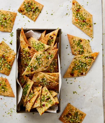 Yotam Ottolenghi's edible Christmas gifts – tahini and nori thins.