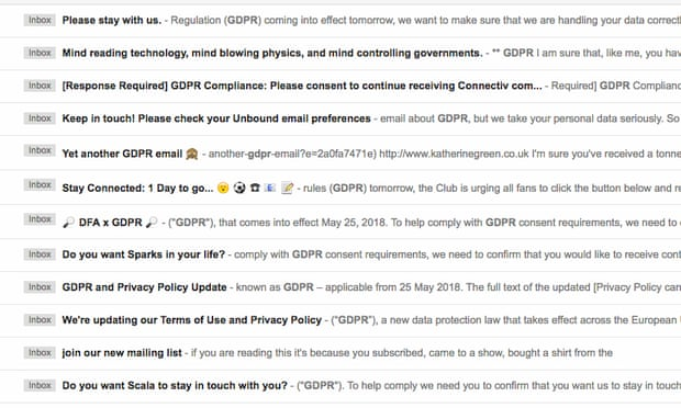 Businesses Resort To Desperate Emailing As GDPR Deadline Looms by Martin Belam for The Guardian