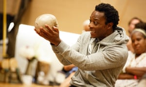 Chukwudi Iwuji as Hamlet.
