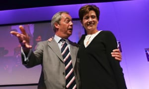 Nigel Farage and Diane James at the Ukip conference