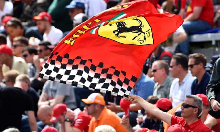 Tbe Ferrari flag on display at last year's Italian Grand Prix.