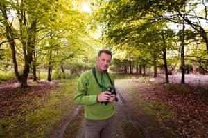 BBC Springwatch presenter Chris Packham at RSPB Minsmere, Suffolk. Photograph by Graham Turner For G2