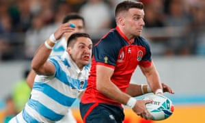 George Ford launches an attack for England against Argentina.