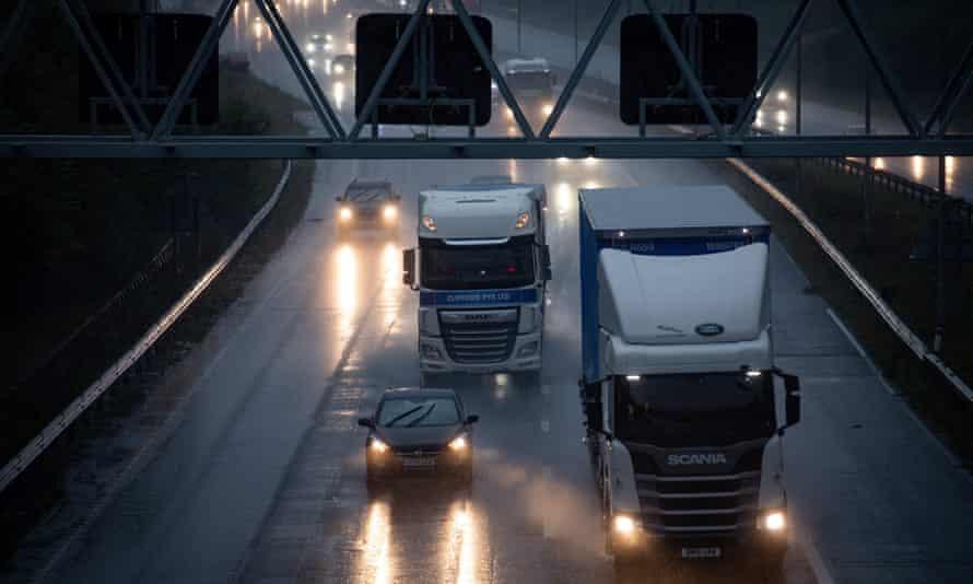 Vehicles on the M6 near Birmingham.