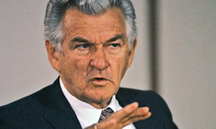Bob Hawke in 1990.