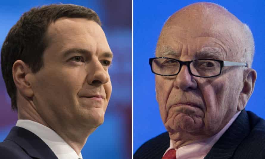 George Osborne has met Rupert Murdoch three times in the past two years.
