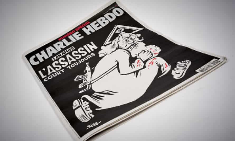 The commemorative edition of Charlie Hebdo to mark the one-year anniversary of the jihadist attack.