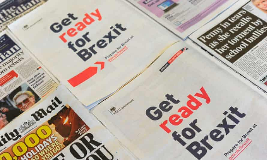 full-page Get ready for Brexit ads in UK newspapers