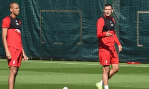 Fabinho (left) and Dejan Lovren could be given their first starts of 2020 in the FA Cup match against Shrewsbury on Sunday.