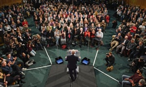 Jeremy Corbyn delivers his first general election campaign speech in London.