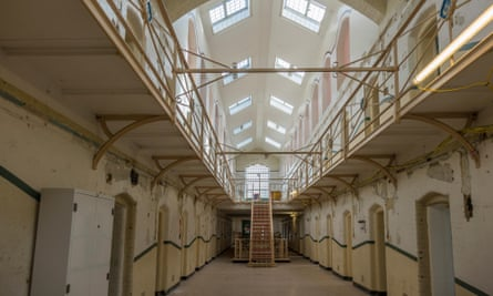 Interior view of a prison