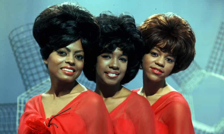 The Supremes in 1961. Mary Wilson, centre, with Diana Ross, left, and Florence Ballard.