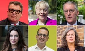 Clockwise from top left: Tom Watson, Angela Eagle, Hilary Benn, Heidi Alexander, Owen Smith and Luciana Berger.