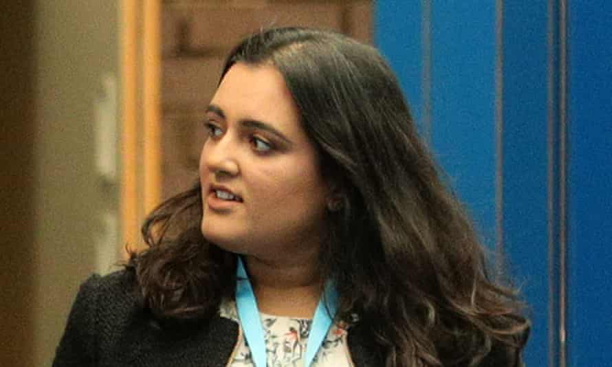 Sonia Khan, who was escorted out of Downing Street by police.