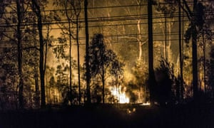 Hundreds evacuated from homes on Saturday as flames came close to properties in south-west Sydney.