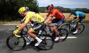 Rohan Dennis, centre, the favourite for Friday's ITT stage, withdrew from the race unexpectedly on Thursday.