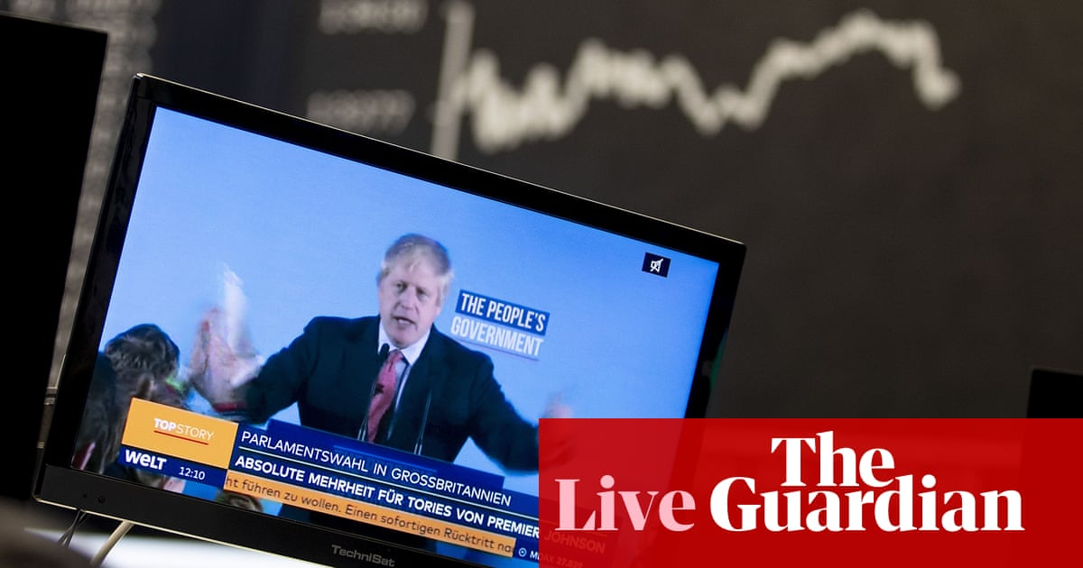 UK stock market surges by nearly £50bn as 'Boris bounce' continues – business live | Business