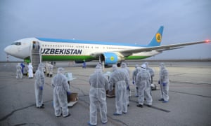 Officials take measures to prepare for the arrival of Uzbekistani people as they continue to be evacuated from abroad.