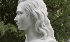 the sculpture of Novalis at his grave in Weissenfels, Germany.