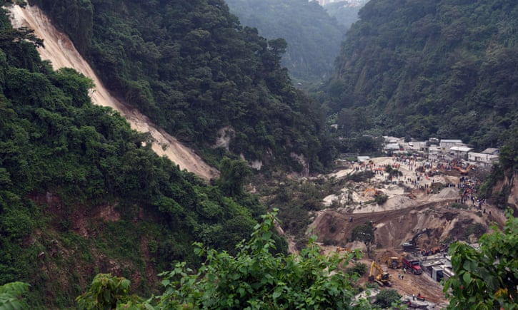 the landslide in Cambray near Guatemala City on 2/10/15