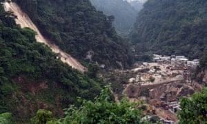 The village of Cambray near Guatemala City on Friday.