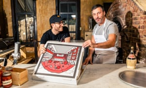 A pizza the action … Scott Wiener and Mark Iacono, hosts of Really Dough.