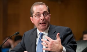 Alex Azar, the US health secretary.