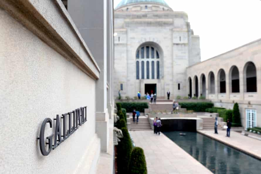 The Gallipoli sign at the Australian War Memorial in Canberra