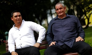 Cuban doctors Carlos Raul Lujos and Alioski Ramirez in Brasilia, Brazil. Leasing medical professionals is Cuba's main export, bringing in more hard currency than tourism.