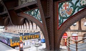 Victorian ironwork at York station.