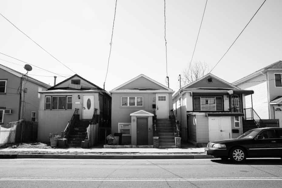 Homes along Beach 43rd Street that survived Hurricane Sandy in the Edgemere neighborhood of Far Rockaway, Queens on April 6, 2021. Smalls grew up in the neighborhood and had to flee her family home when Hurricane Sandy hit.