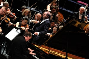 Stephen Hough performs Brahms's first piano concerto.
