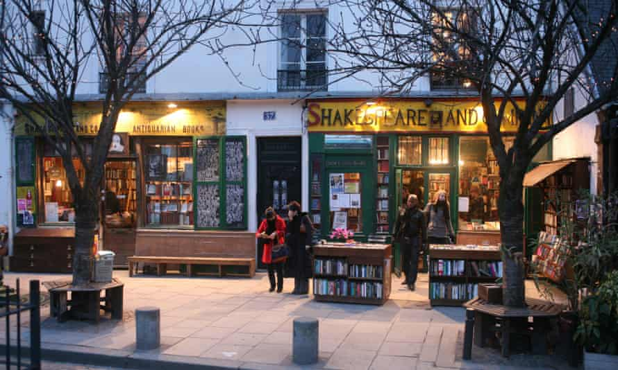 Shakespeare and Co. in Paris.