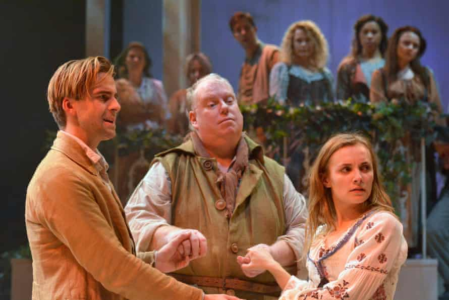 Redemption is available to all … Harry Long as Florizel, Eric Potts as the Old Shepherd and Leila Mimmack as Perdita.