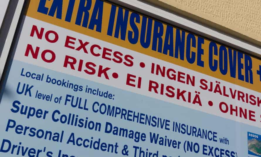 Driving a hard bargain … hard sell for extra insurance cover at car hire centres.