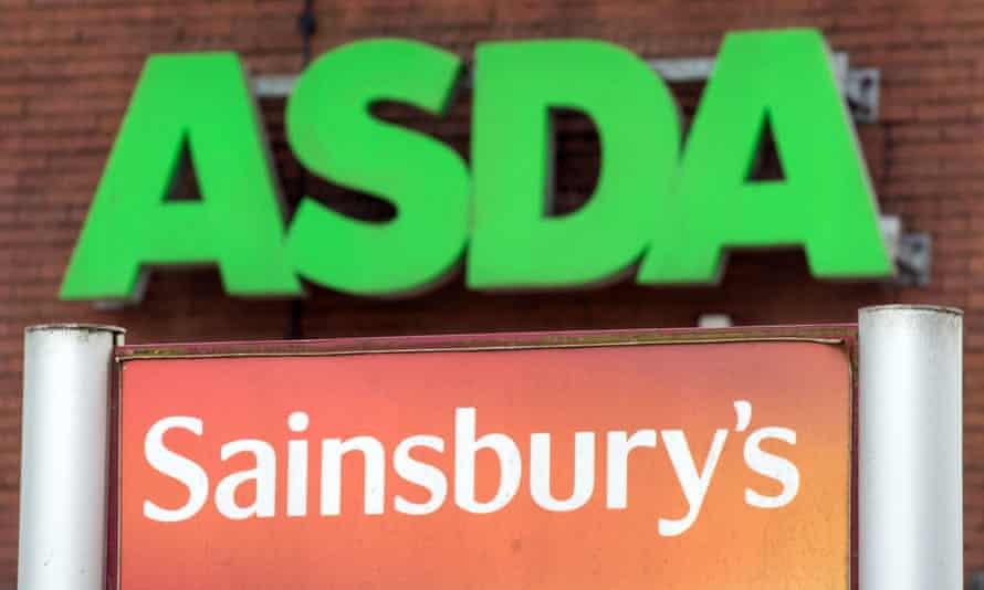 Asda and Sainsbury's logos