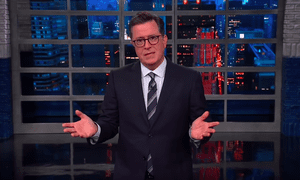 Stephen Colbert: 'America is still reeling from the troubling reminders that Omarosa is still out there.'