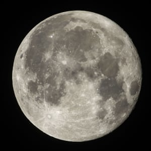 The full moon pictured from Rome, Italy, early on November 24, 2018.