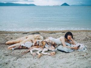 Inspired by Botticelli … Katayama on the beach at Naoshima.