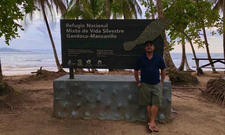 Abel Bustamante near a beach in Puerto Viejo de Talamanca, Costa Rica.