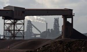 Tata Steel plant in Scunthorpe