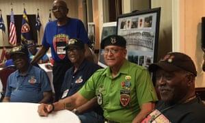 A reunion of Triple Nickle Association members in Norfolk, Virginia.