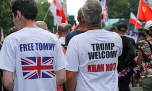 Rightwing groups protest in support of Yaxley-Lennon during his detention.