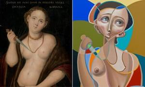 Street artist Miguel Angel Belinchon Bujes, known as Belin, has reinterpreted the painting Lucretia, by Workshop of Lucas Cranach the Elder.